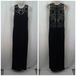 *HP* Brilliante by J.A. dress M Black Silk Beaded